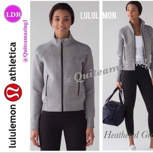 Lululemon Athletica Gray Heathered LS Jacket